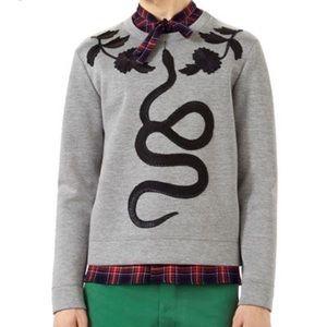 Gucci gray rattlesnake sweater size small